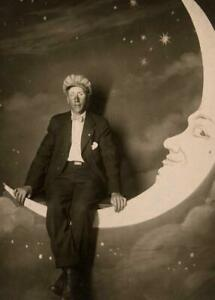 Antique-Photo-Man-Sitting-on-Paper-Moon-Studio-Photo-Photo-Print-5x7
