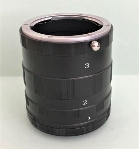 Conjunto de tubo de extensión macro para imágenes de extrema de cerca para Cámara DSLR Olympus OM