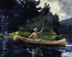 2 BOYS IN FIELD WINSLOW HOMER FINE ART PAINTING REAL CANVAS GICLEE 8X10 PRINT