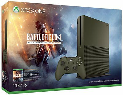 Xbox One S 1TB Console - Battlefield 1 Special Edition Bundle (Latest Model)