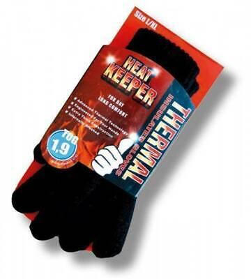Damen Finger Handschuhe Thermo sehr warm Heat Keeper TOGRating 1,9 schwarz S-XL