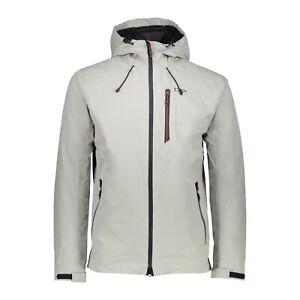 Details zu CMP Herren Jacke 39Z5357 Man Jacket Zip Hood Outdoorjacke Regenjacke grau stone