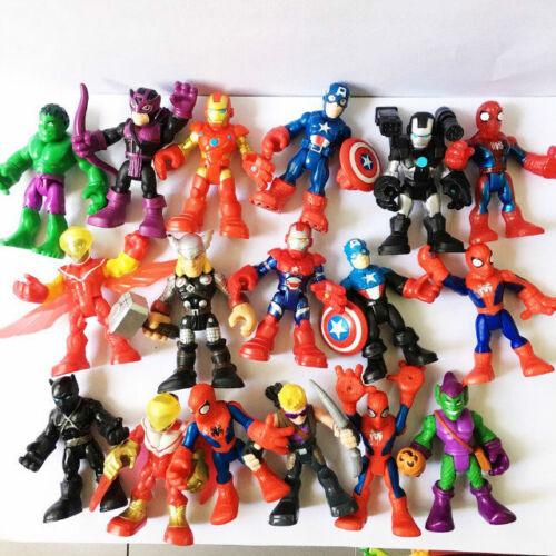 Random 5pcs Playskool Marvel Super Hero Adventures 2.5/'/' SPIDER-MAN Hulk Figures