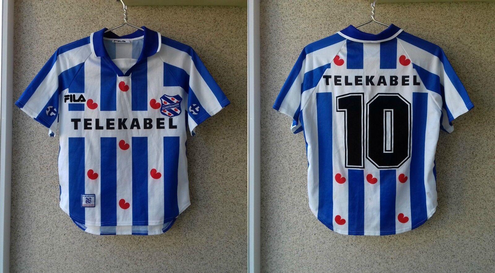 SC Heerenveen 1999 2000 Hogar Camiseta De Fútbol S Camiseta De Fútbol Fila Camiseta Vieja
