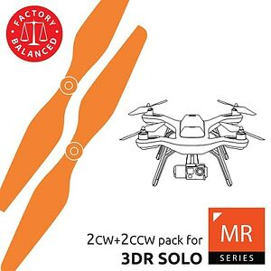 3dr Solo Propellers Upgrade Set Orange - x4 propellers fast ship