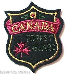 CANADIAN 1950s EMBROIDERED SOUVENIR PATCH - CANADA FOREST GUARD - NEW/OLD STOCK - France - État : Neuf: Objet neuf et intact, n'ayant jamais servi, non ouvert. Consulter l'annonce du vendeur pour avoir plus de détails. ... Brand: From an old store Embroidered Patch: Canada Souvenir : Forest Guard MPN: Does Not Apply Deadstock / New/O - France