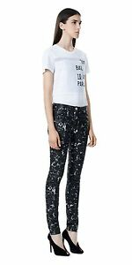BALENCIAGA-695-Authentic-Black-Marble-Effect-Printed-Ankle-Zips-Slimfit-Jeans