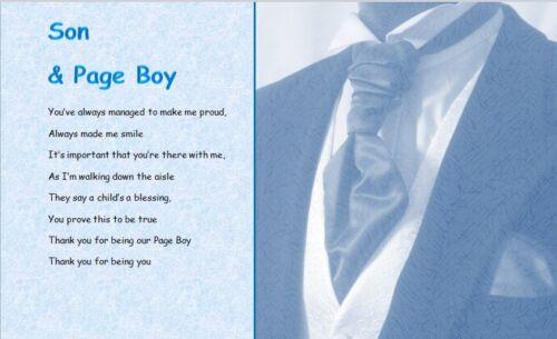 Fils /& page boy feuilleté cadeau style 2
