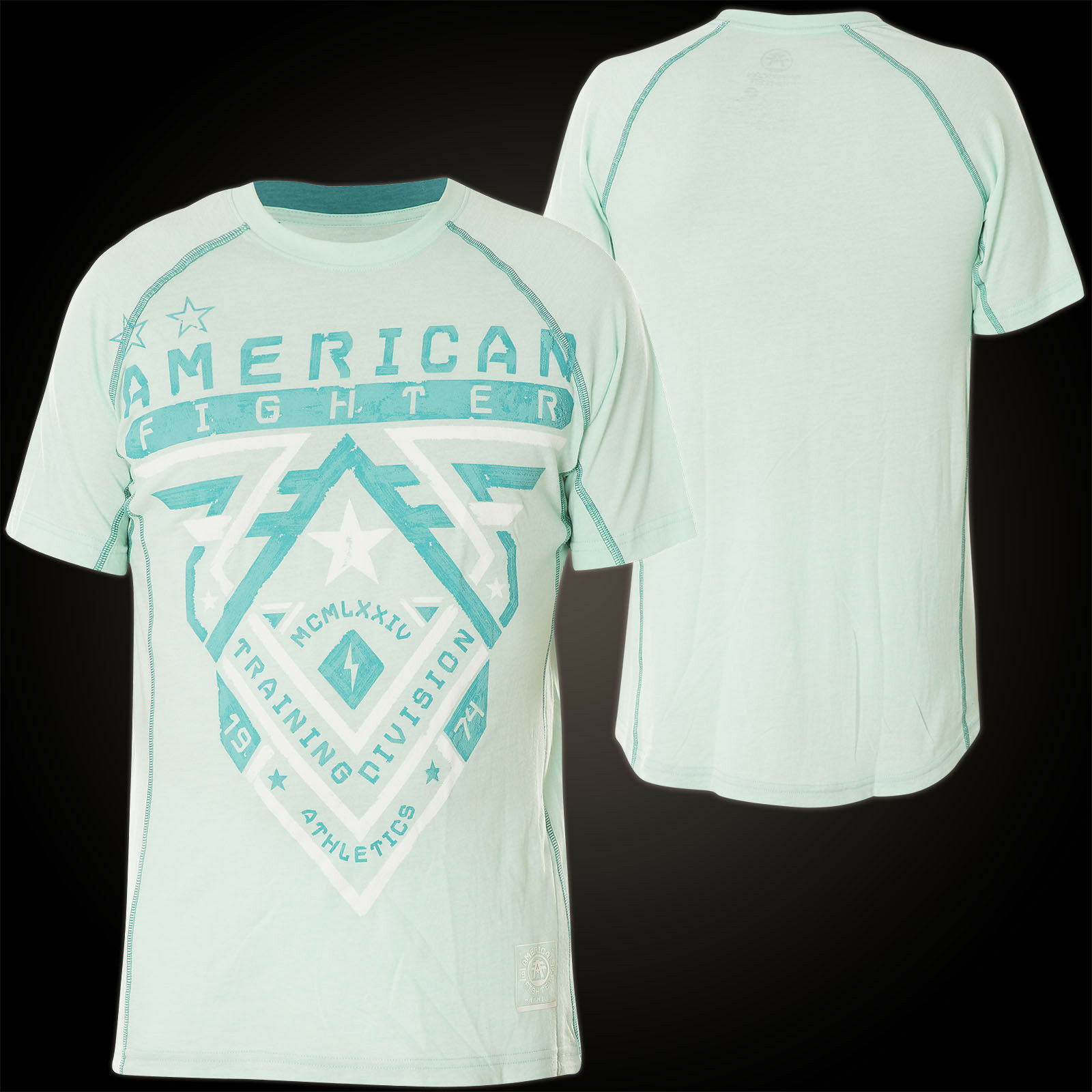 AMERICAN FIGHTER Affliction T-Shirt Crossroads Handcrafted Hellgrün
