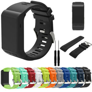 Replacement-Band-Sports-Silicone-Wristwatch-Strap-Tool-For-Garmin-Vivoactive-HR
