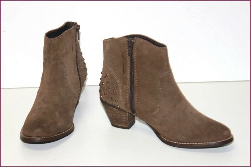 LA SCARPA Boots Suede Brown Lined Leather T 36 TOP CONDITION