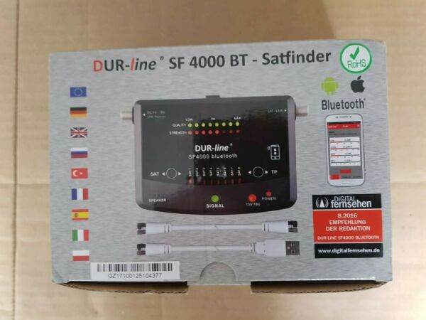 Slim Dur-line Sf 4000 Bt Sat Gauge Bluetooth App 8 Pre-programmed Satellite Ongelijke Prestaties