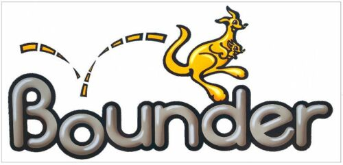 Bounder RV LOGO Graphic IN 3D  Lettering decal 5th Wheel