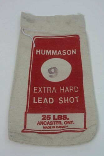 "Three Vintage HUMMASON #6 #8 /& #9 Lead Shot Canvas empty bags 25 lbs  7/"" x 14/"""
