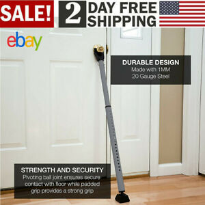 Security Bar Adjustable Door Lock Home Safety Steel Brace ...