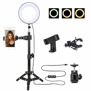 Bicaquu 6inch Photography Dimmable LED Video Live Studio Camera Ring Light Photo Selfie Video Lights