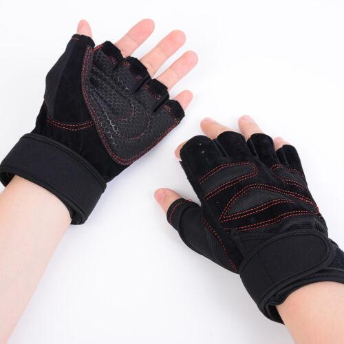 Unisex Handschuhe Gewichtheben Gym Training Fitness Handgelenk Wrap Übung Sport