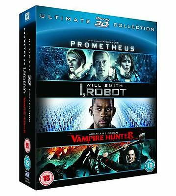 Prometheus / I, Robot / Abraham Lincoln: Vampire Hunter 3D Pack - Blu-ray
