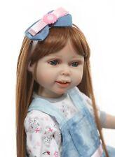 "American Girl 18/"" Reborn Baby Vinyl Lifelike Realistic Sweet Doll Kids Blue Gift"