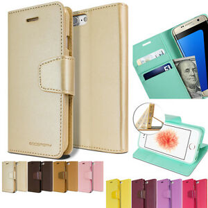 Carry-All-Wallet-Leather-Book-Double-Flip-Case-Cover-For-iPhone-X-8-Galaxy-S9-LG