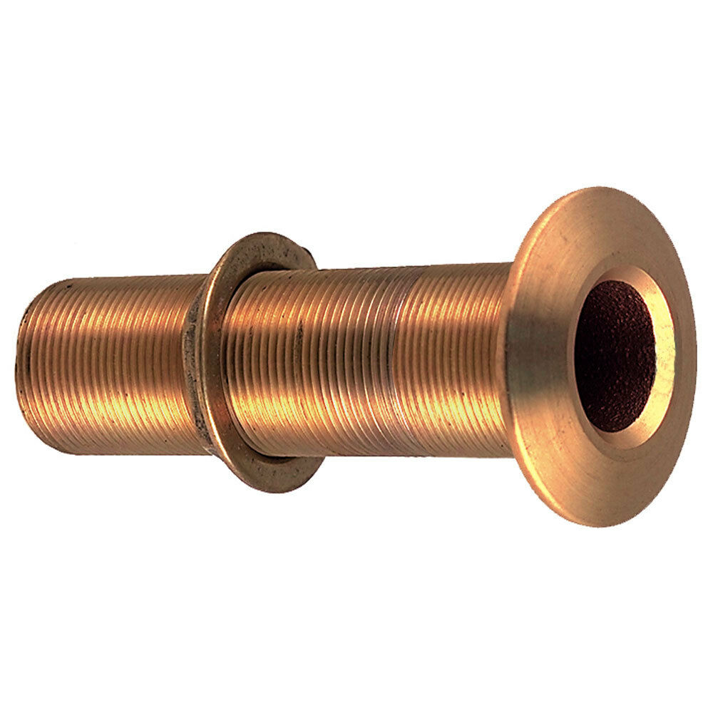 Perko 34 ThruHull Fitting wPipe Thread Bronze Extra lungo  Max Hull 5 Thick