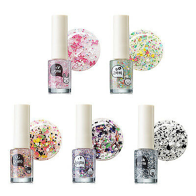 [THE SAEM] Saemmul Telling Nails 5 Color 7ml / Bling bling point nails