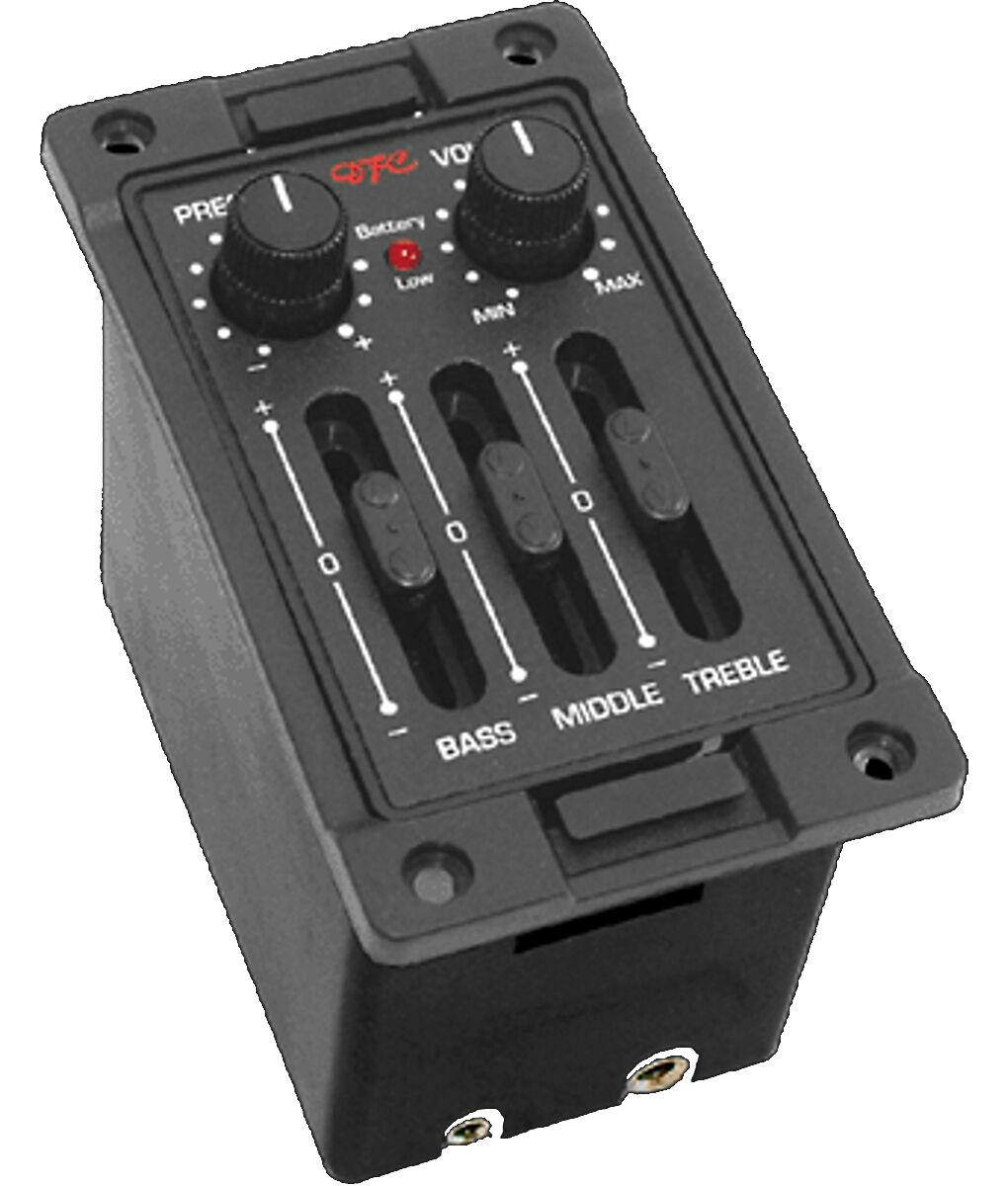 Artec DFC-D acoustic guitar preamp pickup complete kit PP607 piezo