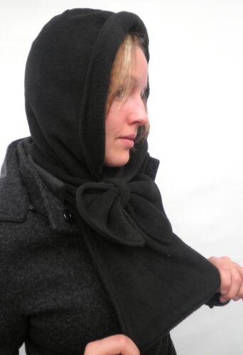 Damen Mütze Schalmütze Kapuzenschal Schwarz Fleecemützen Damenhüte Winter