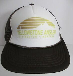 Yellowstone Angler Hat Cap Snapback Trucker USA Print