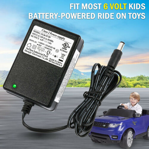 6 Volt Battery Charger for Toddler Quad ATV Hello Kitty SUV Electric Ride On Car