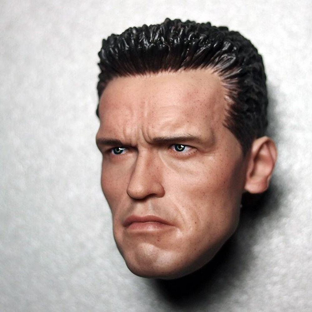Terminator 2 Arnold blackenegger 1 6 Scale T800 Head Sculpt For 12'' Hot Toys