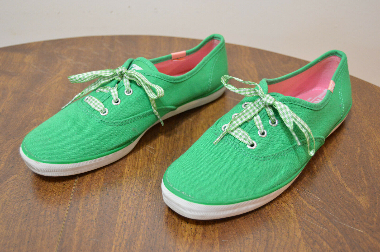 Ladies Keds CH Ox Bright Green Lace up