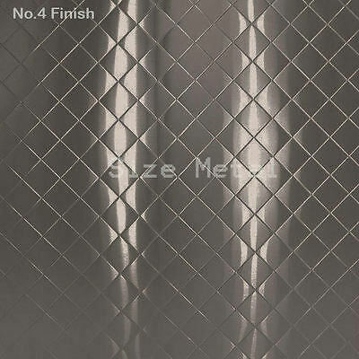 "Food Truck /& Restaurant Diamond Quilted Stainless Steel 24 Ga 3/' X 10/' 4/"" Quilt"