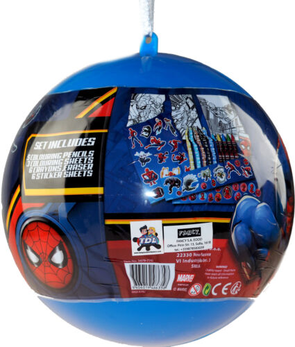 Marvel Spiderman Giant Christmas Bauble With Stickers And Stationery Gift Set