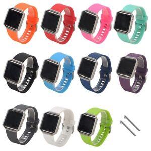 Replacement-Silicone-Wrist-Band-Strap-Bracelet-Fitbit-Blaze-Smart-Watch-SM-LG