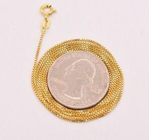 Technibond-Italian-Box-Chain-Necklace-14K-Yellow-Gold-Clad-Sterling-Silver-925