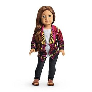 American Girl CASUAL CHIC OUTFIT purple sweater pants hat shoes # F1682 NO DOLL