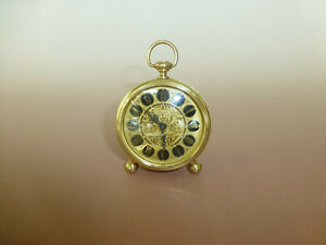 Vintage-034-Europa-034-German-Made-Gold-Filigree-Wind-up-Alarm-Clock-Watch-The-Video