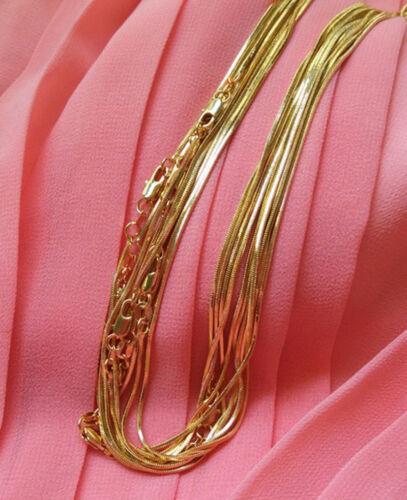 Großverkauf verlost 1 5pcs 18K gelbes reales Gold überzogene Schlangenket CBL