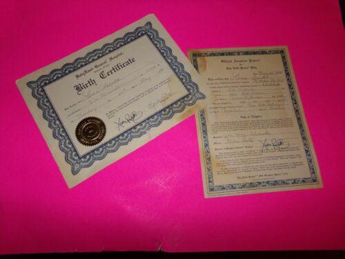CABBAGE PATCH SOFT SCULPTURE BIRTH CERT//ADOPT PAPER U ED 81//82 GIRL