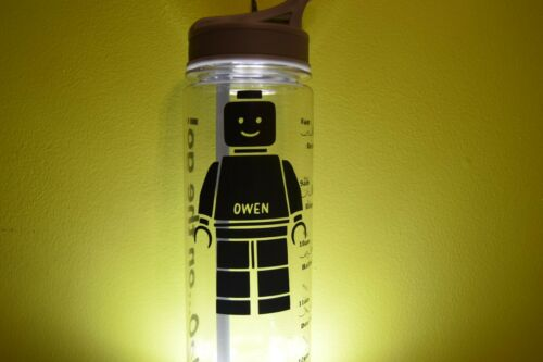 Toys Personalised LEGO Name Vinyl Decal Sticker for Water Bottles,Lunch Box