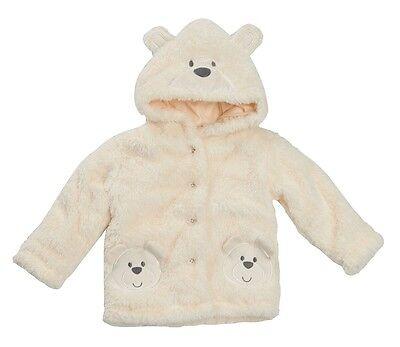 Adorable Furry Cream Jacket Baby Boy Girl Teddy Bear Coat by Baby Town AW'17