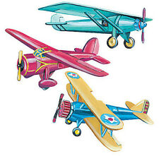 WALLIES VINTAGE AIRPLANES wall stickers 25 prepasted decals planes room decor