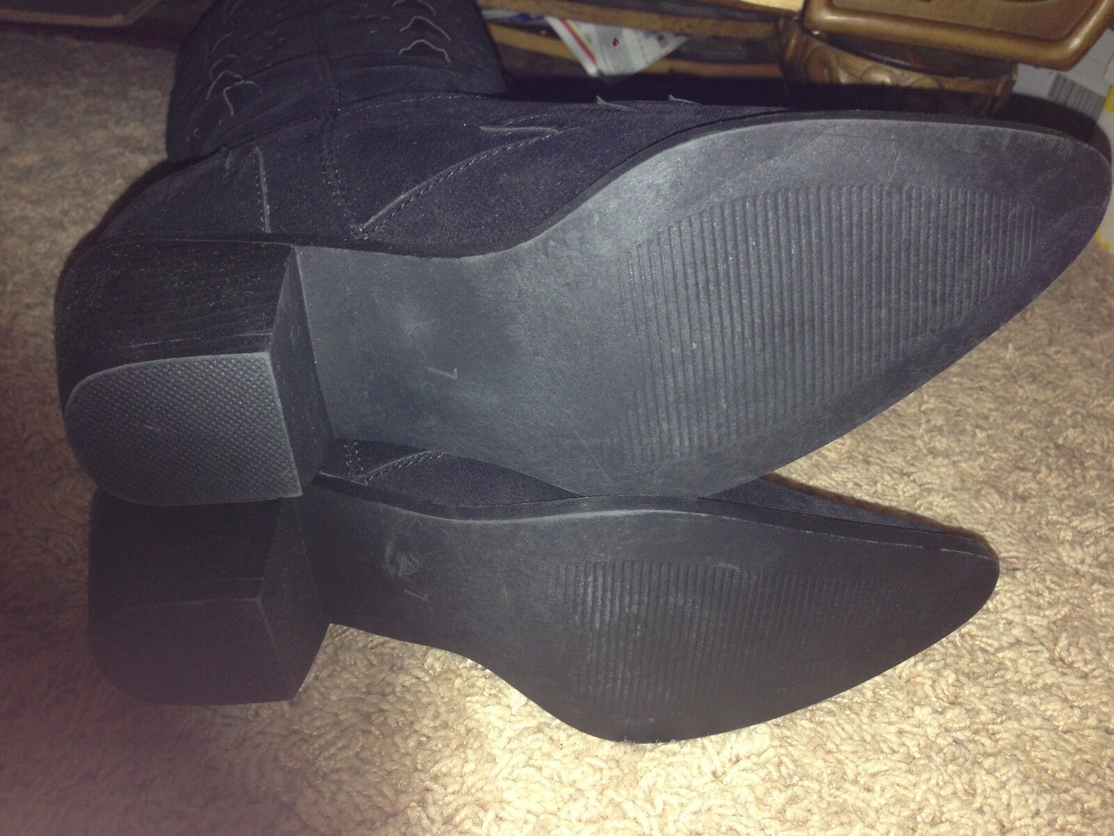 Roper Roper Roper Cowgirl Boots Cross Cut Out Black 7.5 fc43c4