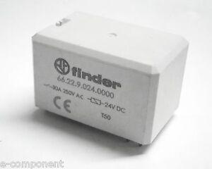 RELE-039-FINDER-66-22-9-024-0000-Bobina-24Vdc-2-scambi-30A-da-circuito-stampato