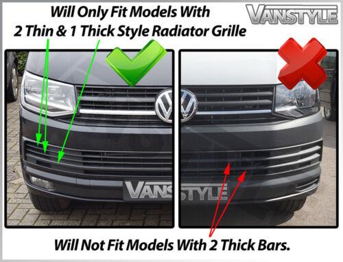VW T6 CARAVELLE KOMBI CHROME FRONT UPPER GRILLE RADIATOR TRIM LOWER GRILL SET
