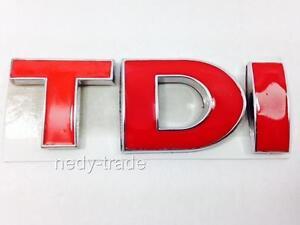 Tdi Emblem Logo Schriftzug Aufkleber Rot Vw Polo Golf Passat Jetta