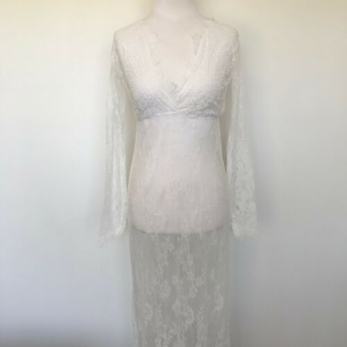 Brand New Lace Maternity Lace Lingerie Gown Babydoll White Dress Plus Size 8-18