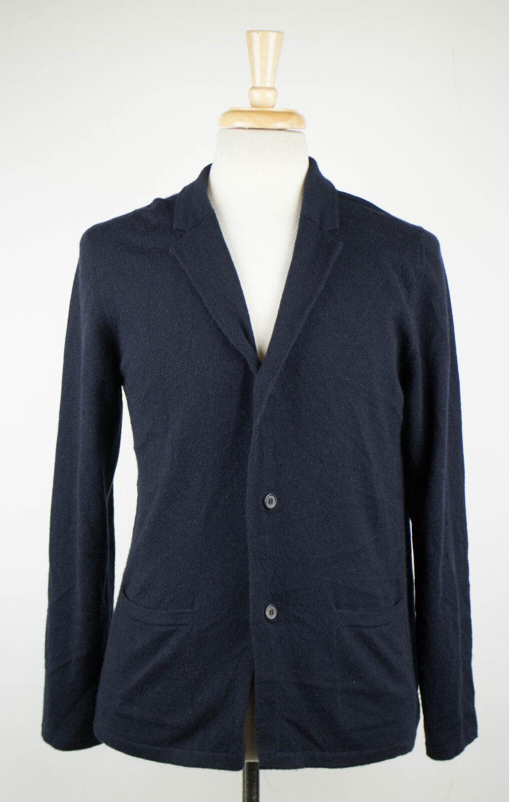 New. LANVIN Navy Blau Cashmere Cardigan Sweater Größe Small 1295