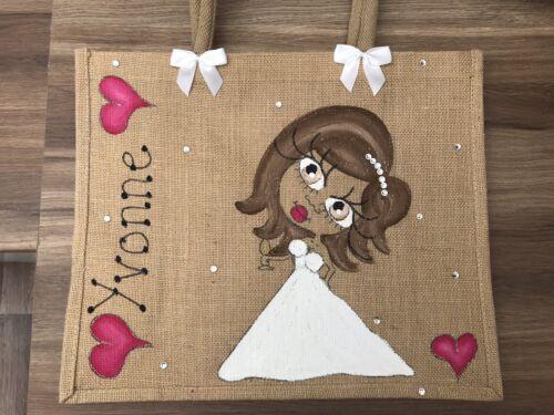Jute 43cm Bag Wedding To Be 32cm Personalised Large X Bride fxZSTwfq
